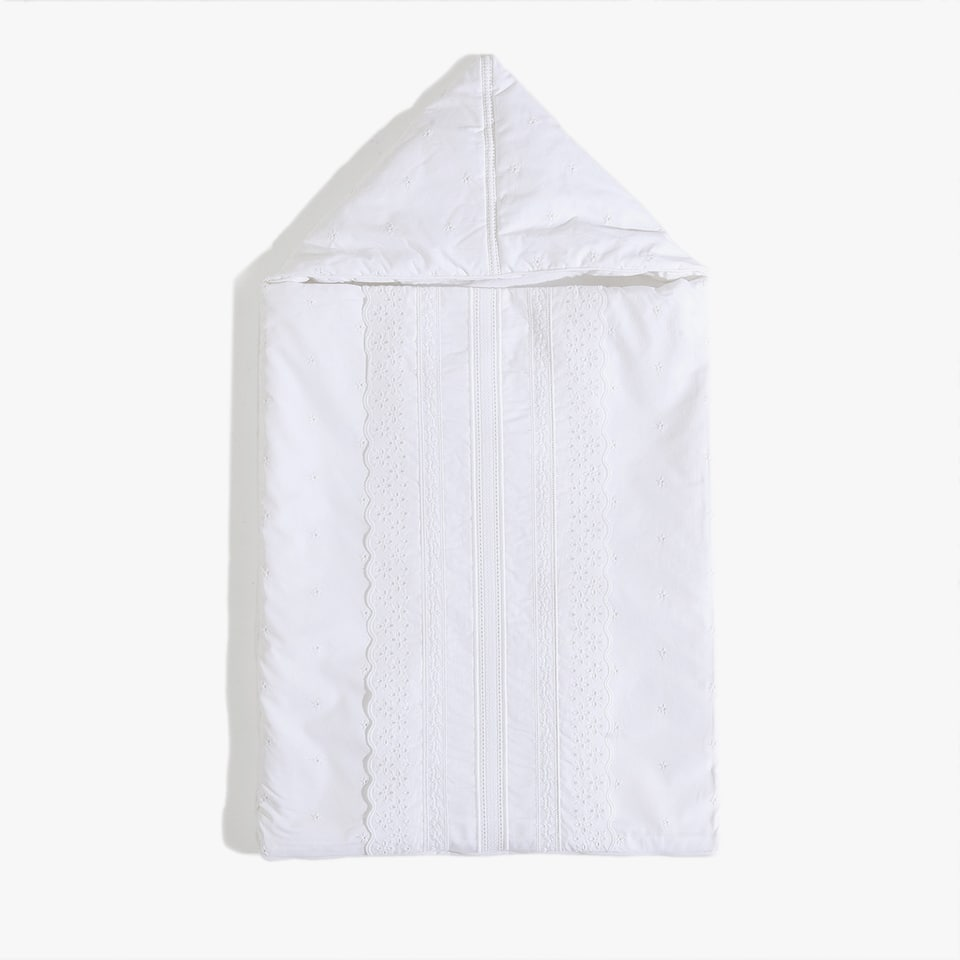 EMBROIDERED PERCALE COTTON SLEEPING BAG