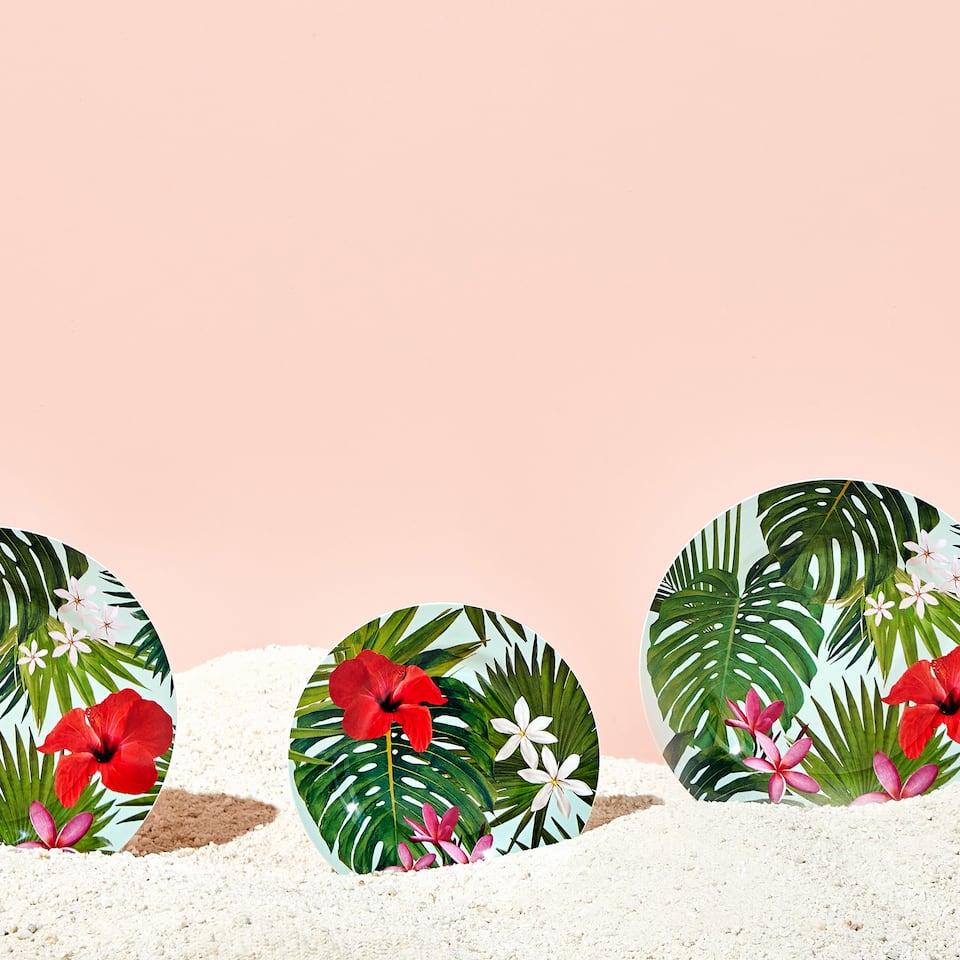 Assiette plate palmiers