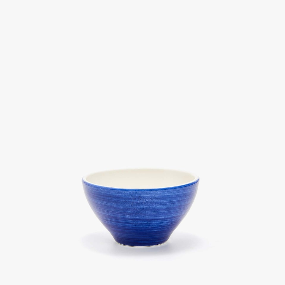 EARTHENWARE MINI BOWL WITH A SPIRAL DESIGN