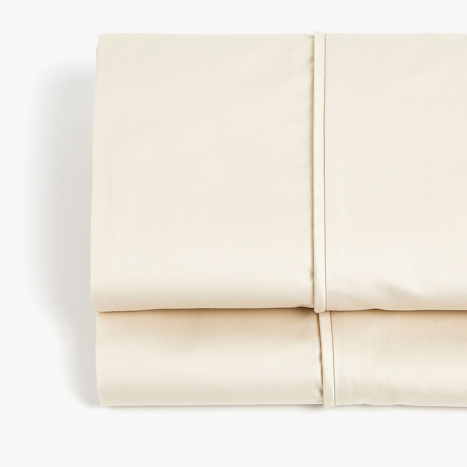 BEIGE SATEEN FLAT SHEET