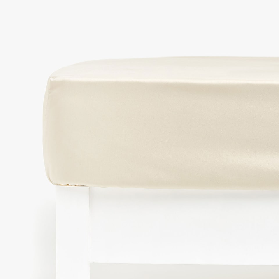 BEIGE SATEEN FITTED SHEET