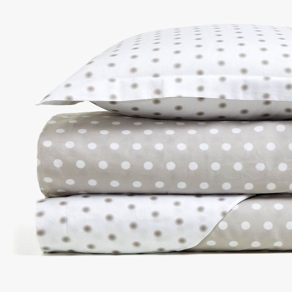 REVERSIBLE POLKA DOT PRINT DUVET COVER