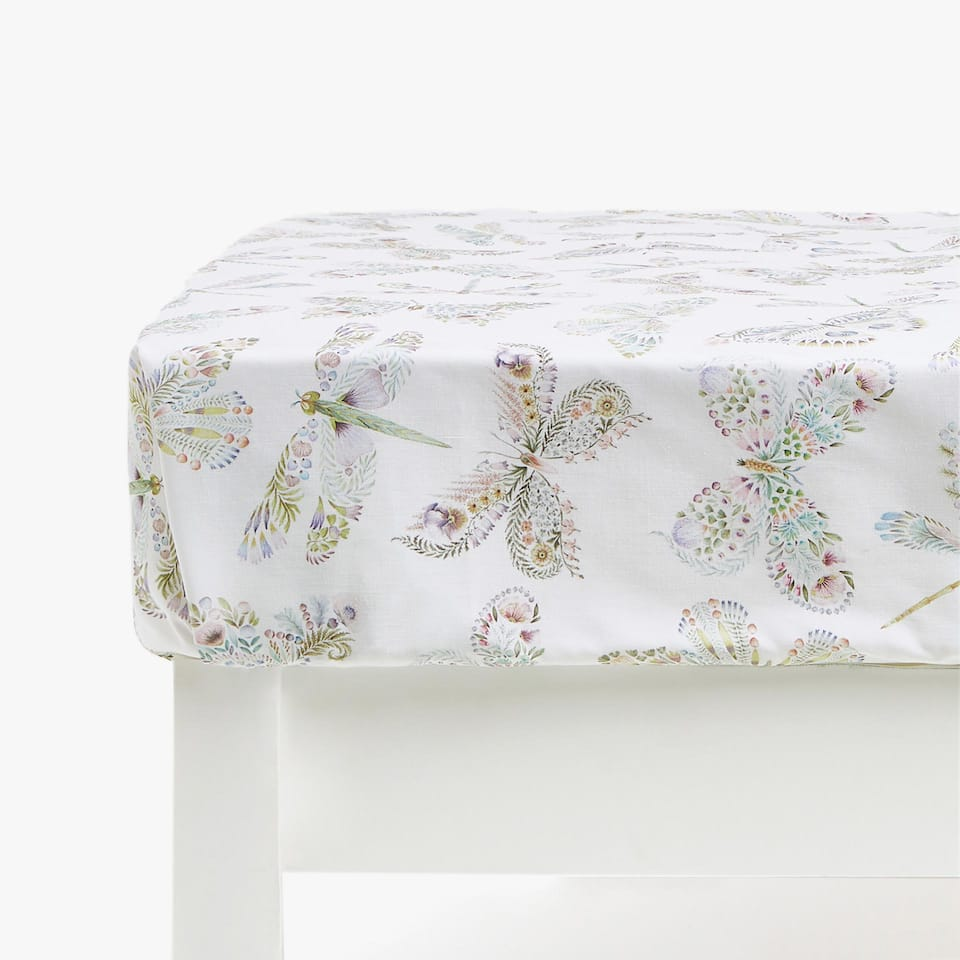 Butterfly Print Fitted Sheet
