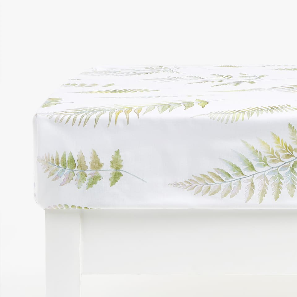 Fern Print Bottom Sheet