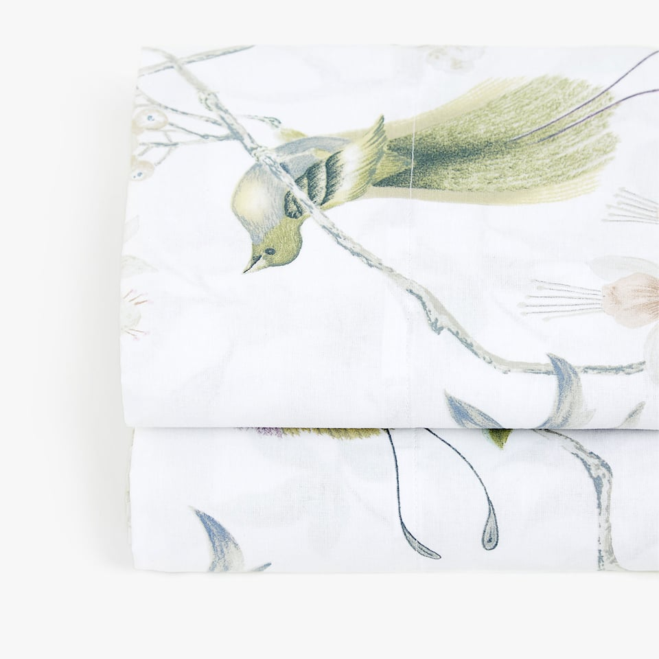 BOTANICAL PRINT FLAT SHEET