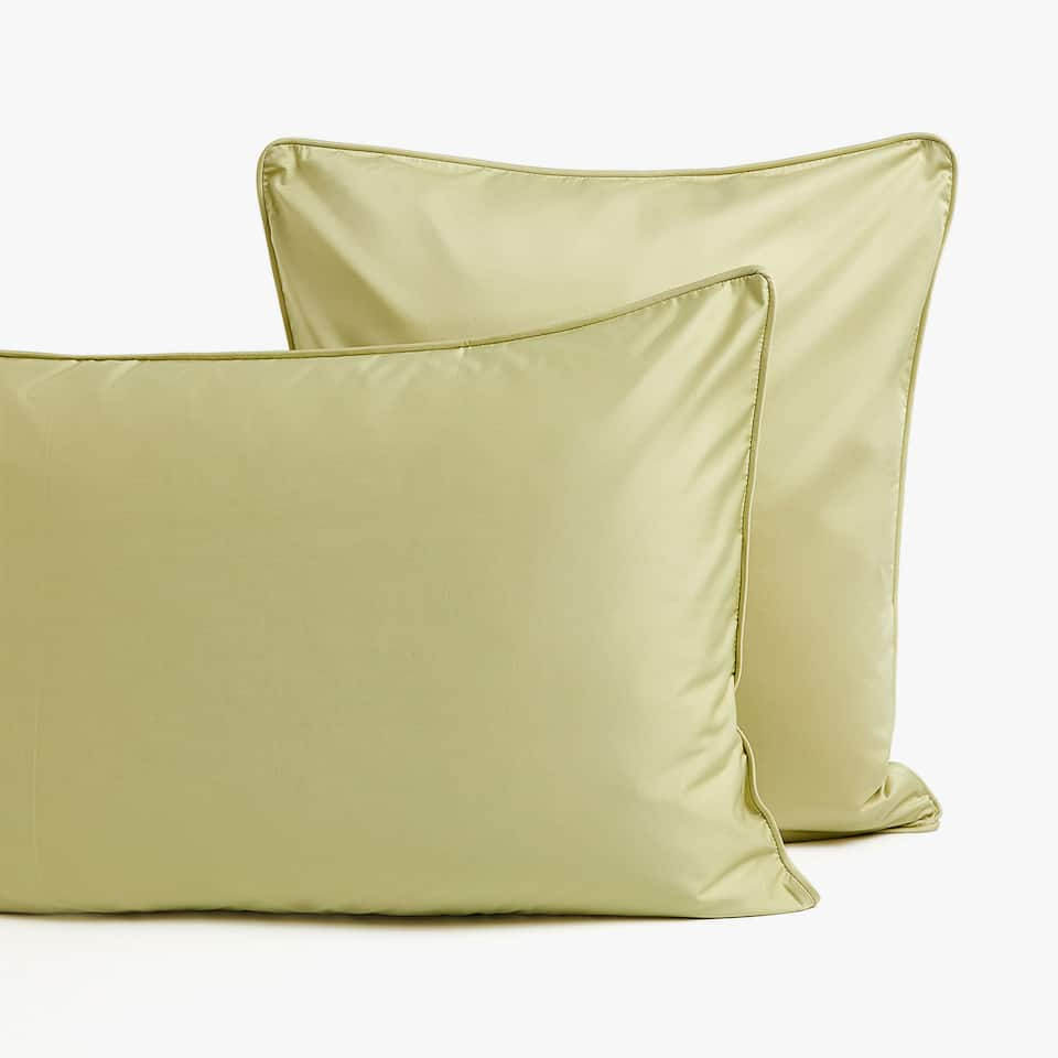 GREEN SATIN PILLOWCASE