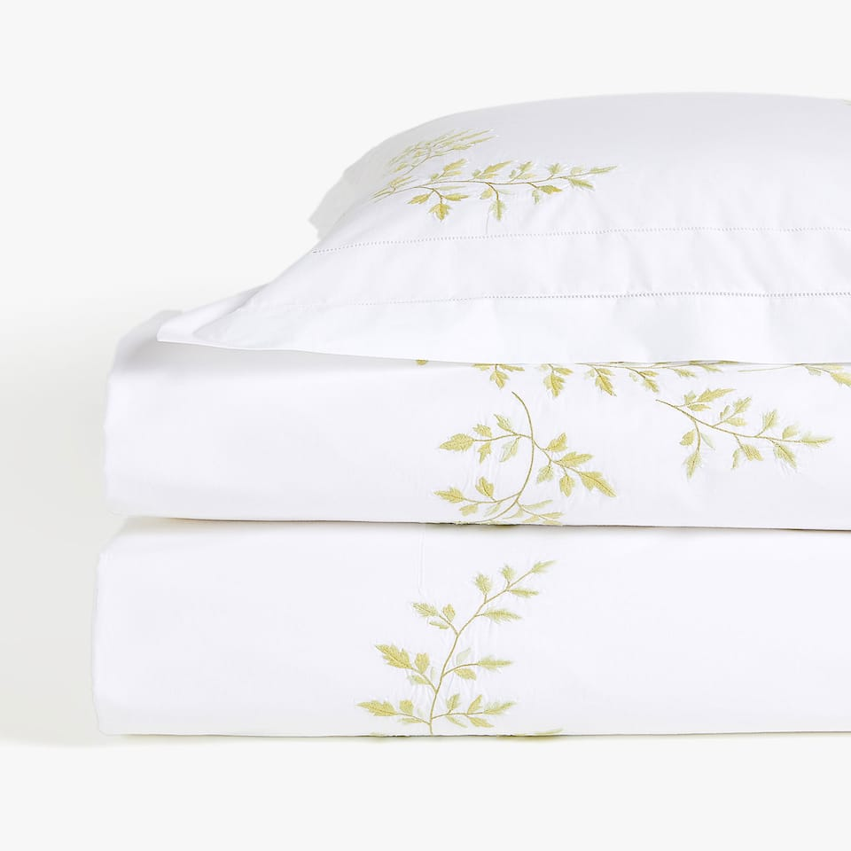 EMBROIDERED FERN DUVET COVER
