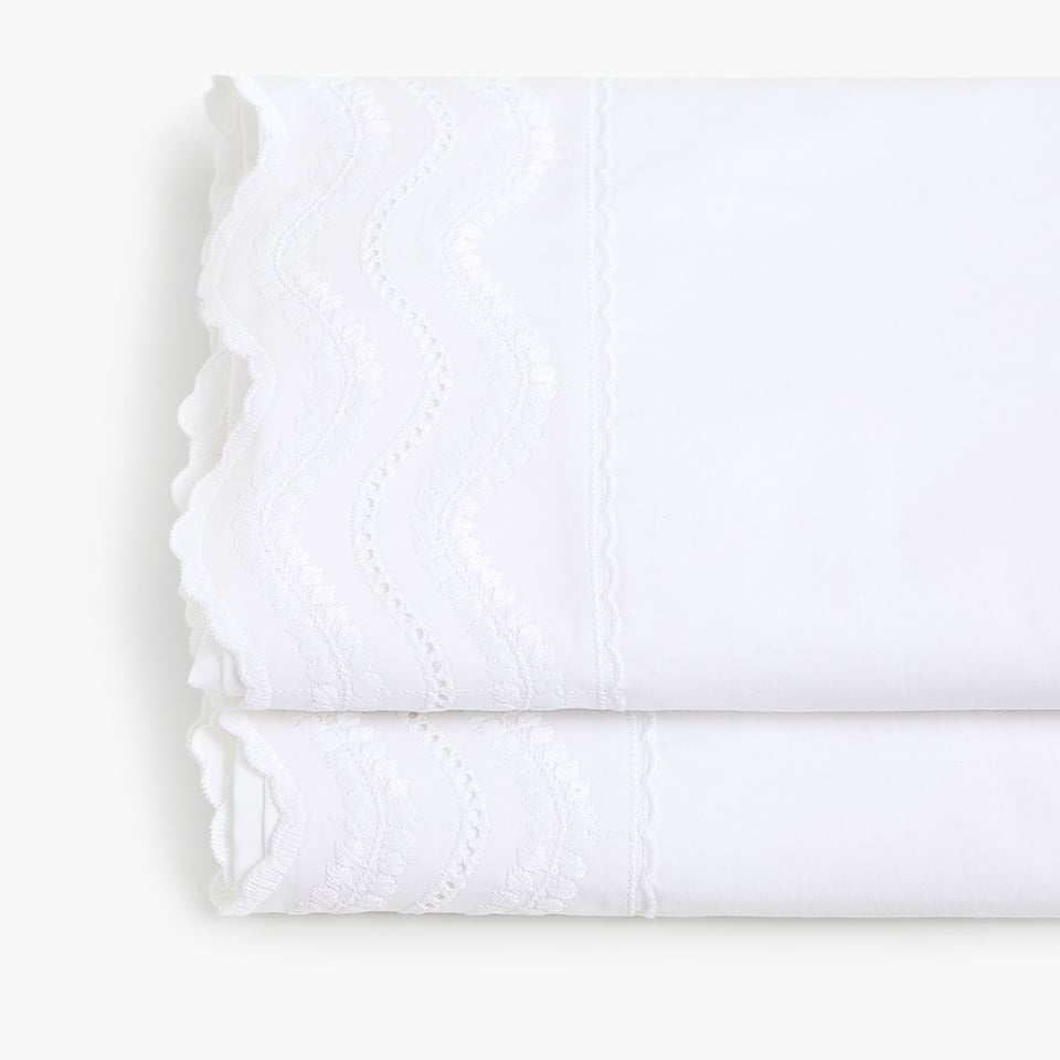 EMBROIDERED WAVES FLAT SHEET