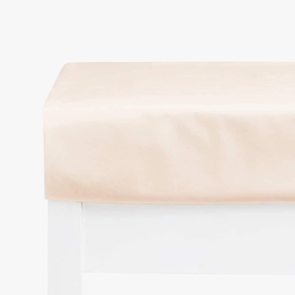 PINK SATEEN FITTED SHEET