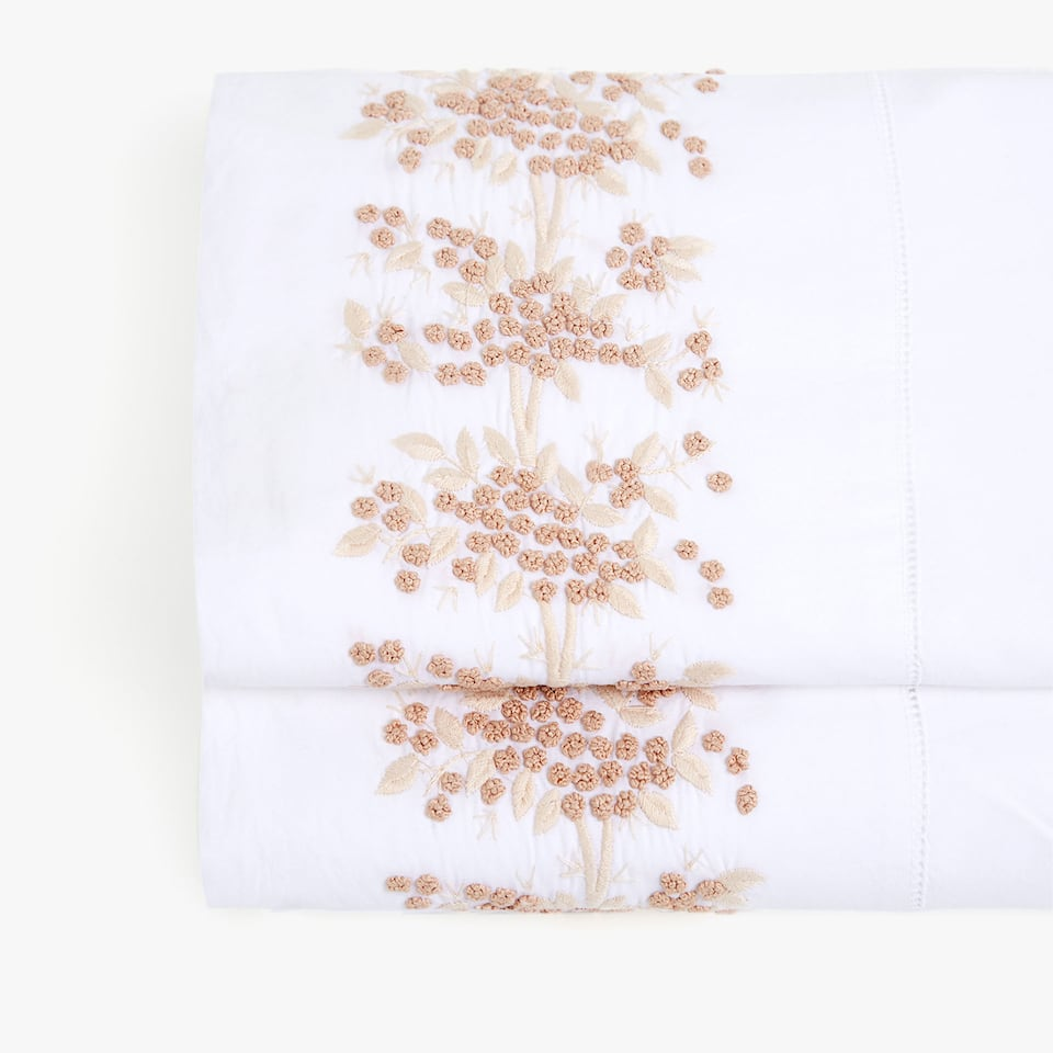 MIMOSA EMBROIDERED FLAT SHEET