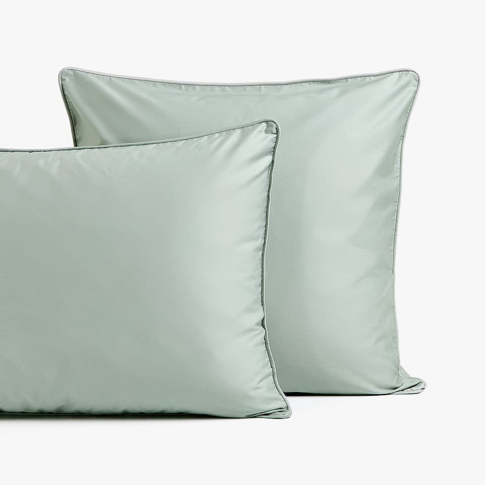 GREEN SATEEN PILLOWCASE