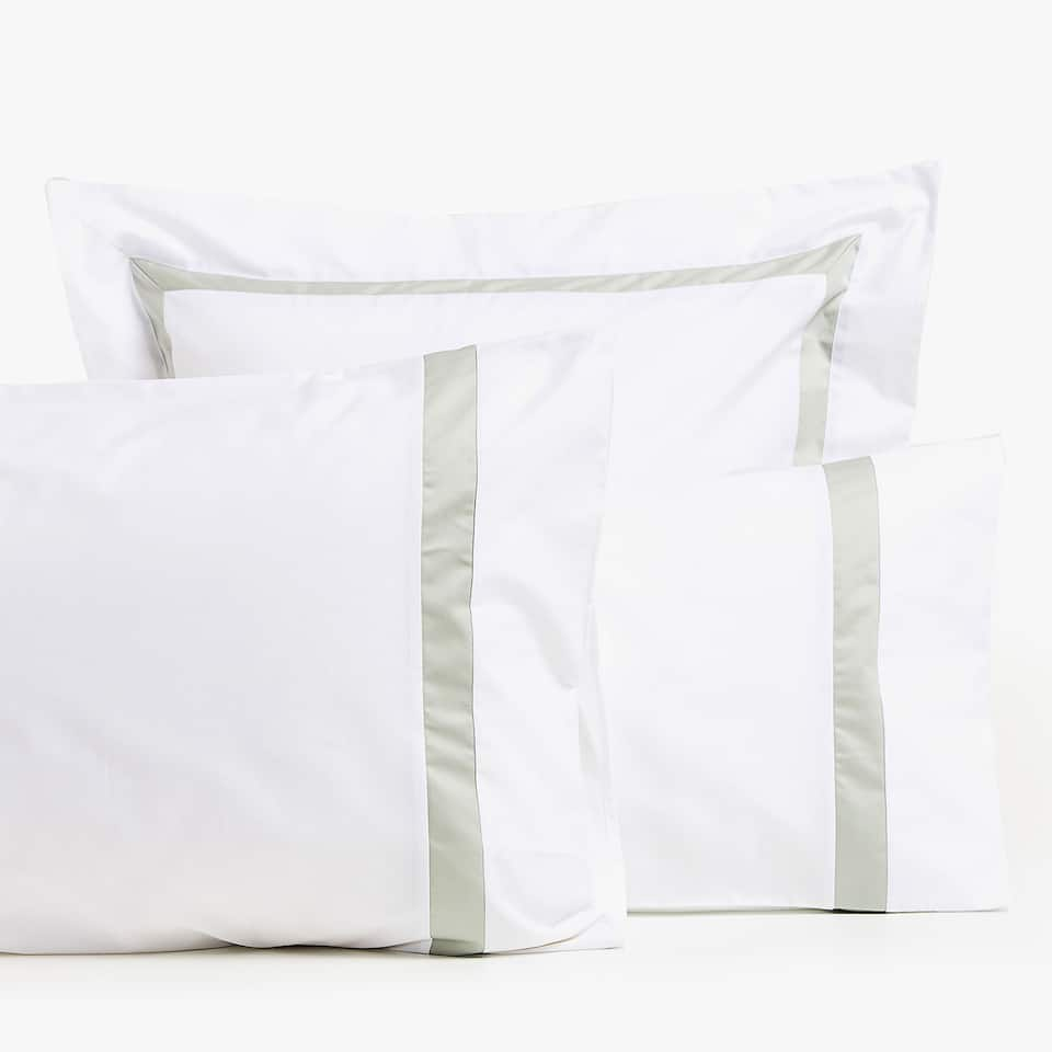 PILLOWCASE WITH CONTRASTING BORDER