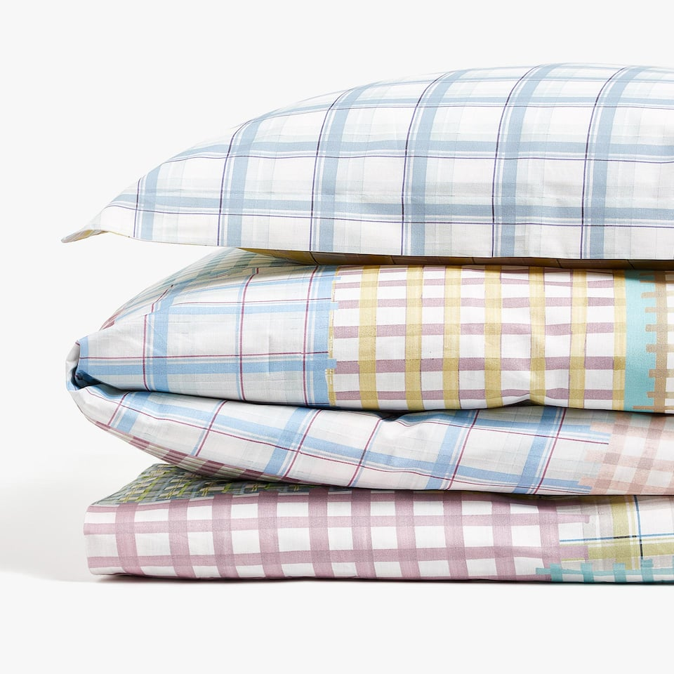 PATCHWORK CHECK DUVET COVER