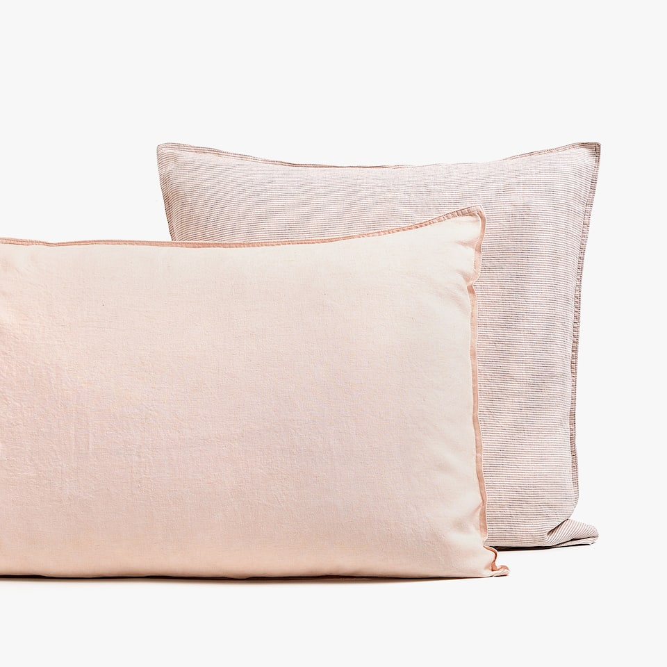 PINK LINEN PILLOWCASE