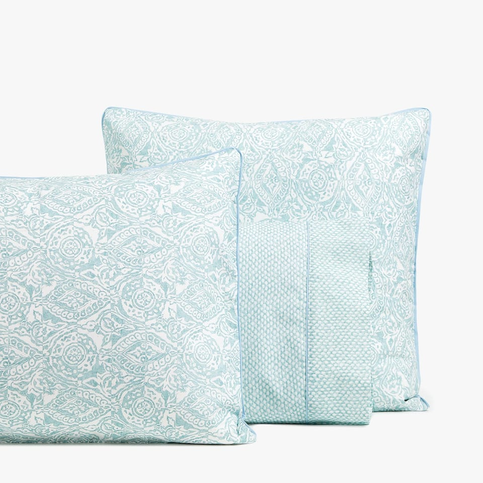 SEA GREEN PRINTED PILLOWCASE