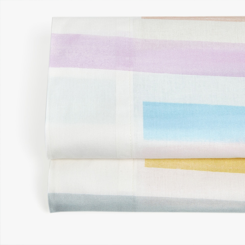 MULTICOLOURED STRIPE PRINT TOP SHEET