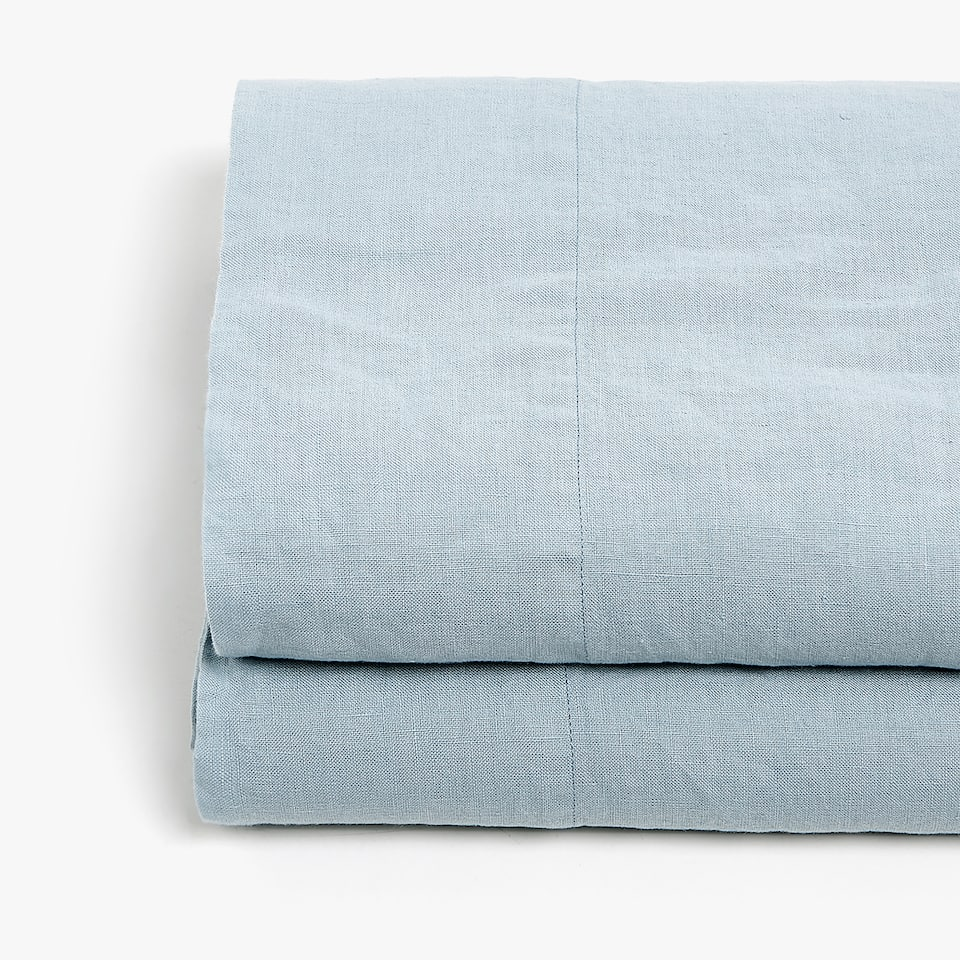 Blue Linen Top Sheet