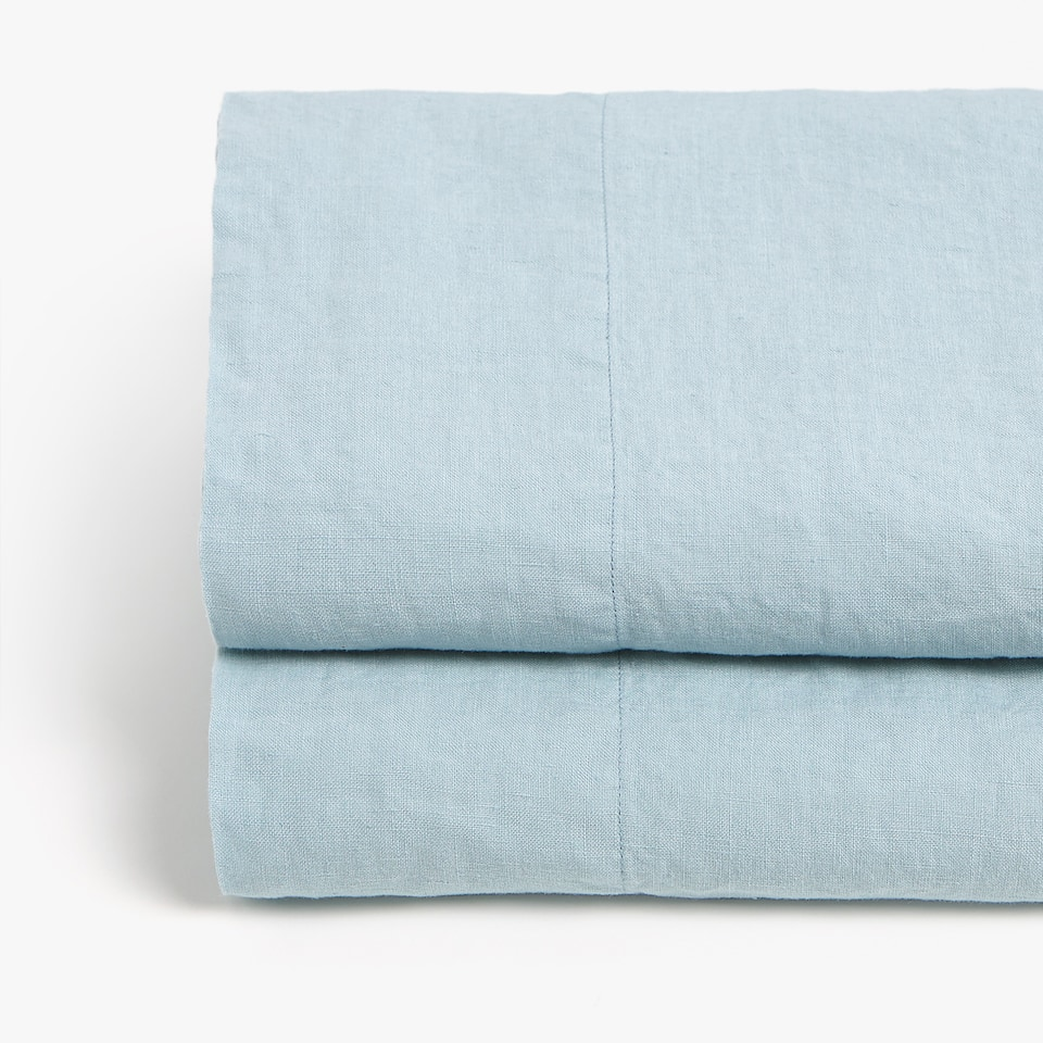 Sea Green Linen Top Sheet