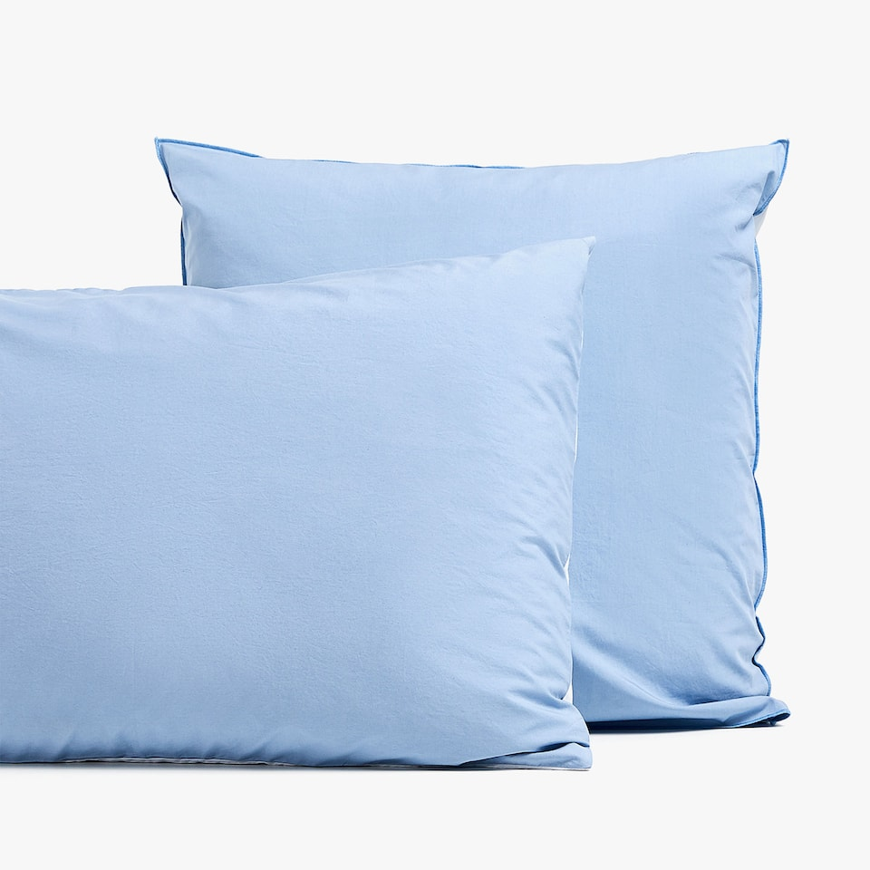 TWO-TONED FADED COTTON PILLOWCASE