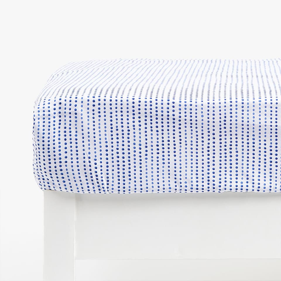 Dotted Print Fitted Sheet