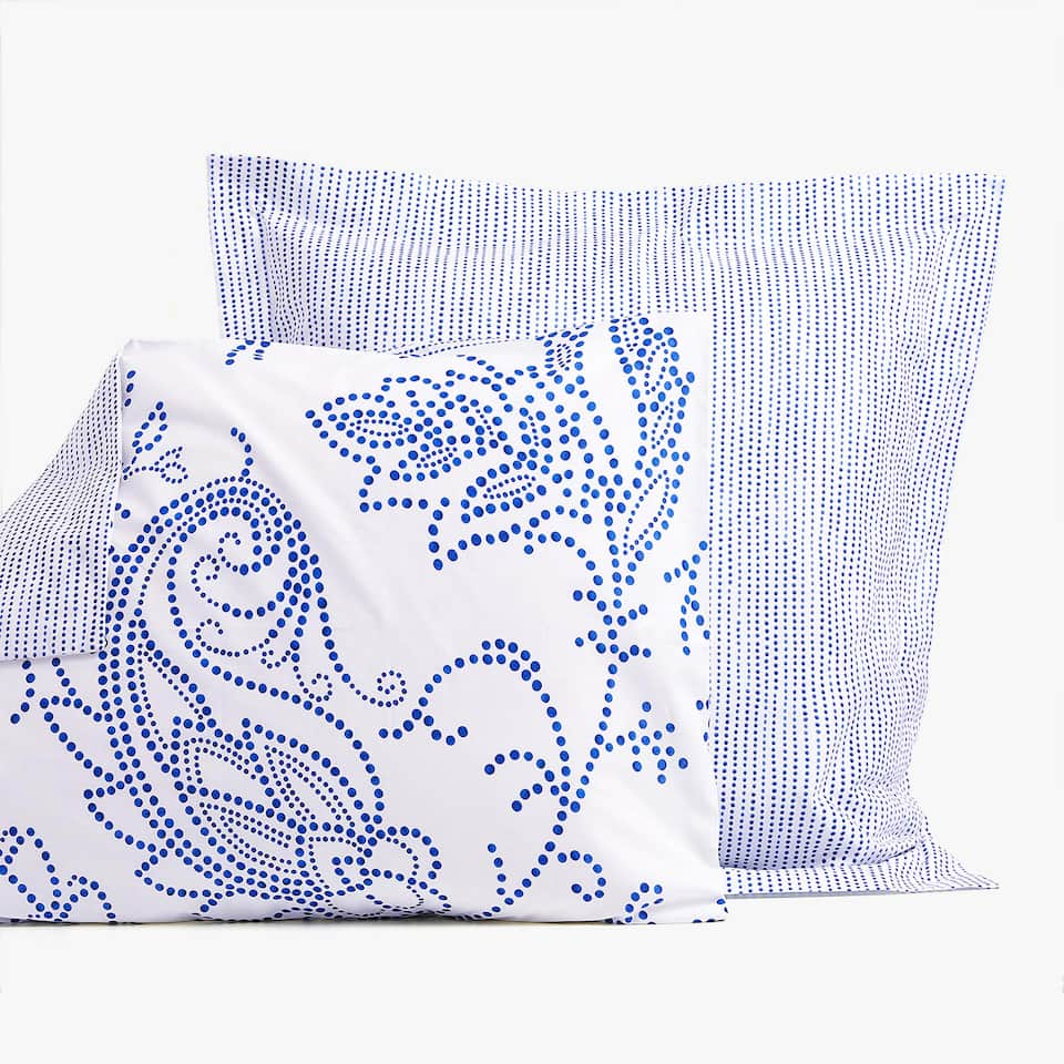 REVERSIBLE FLORAL DESIGN PRINT PILLOWCASE