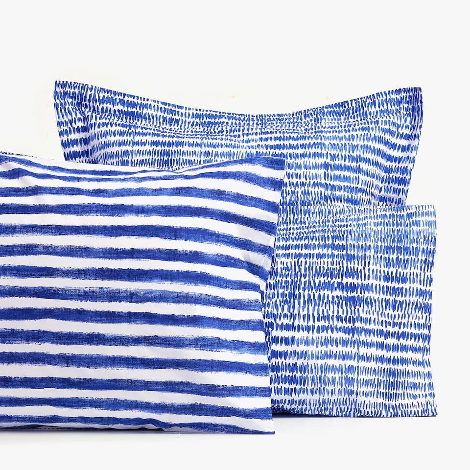WATERCOLOUR STRIPE PRINT PILLOWCASE
