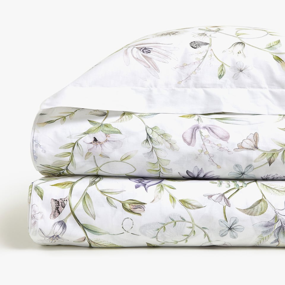 DIGITAL FLORAL PRINT DUVET COVER