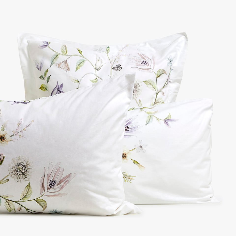 DIGITAL FLORAL PRINT PILLOWCASE