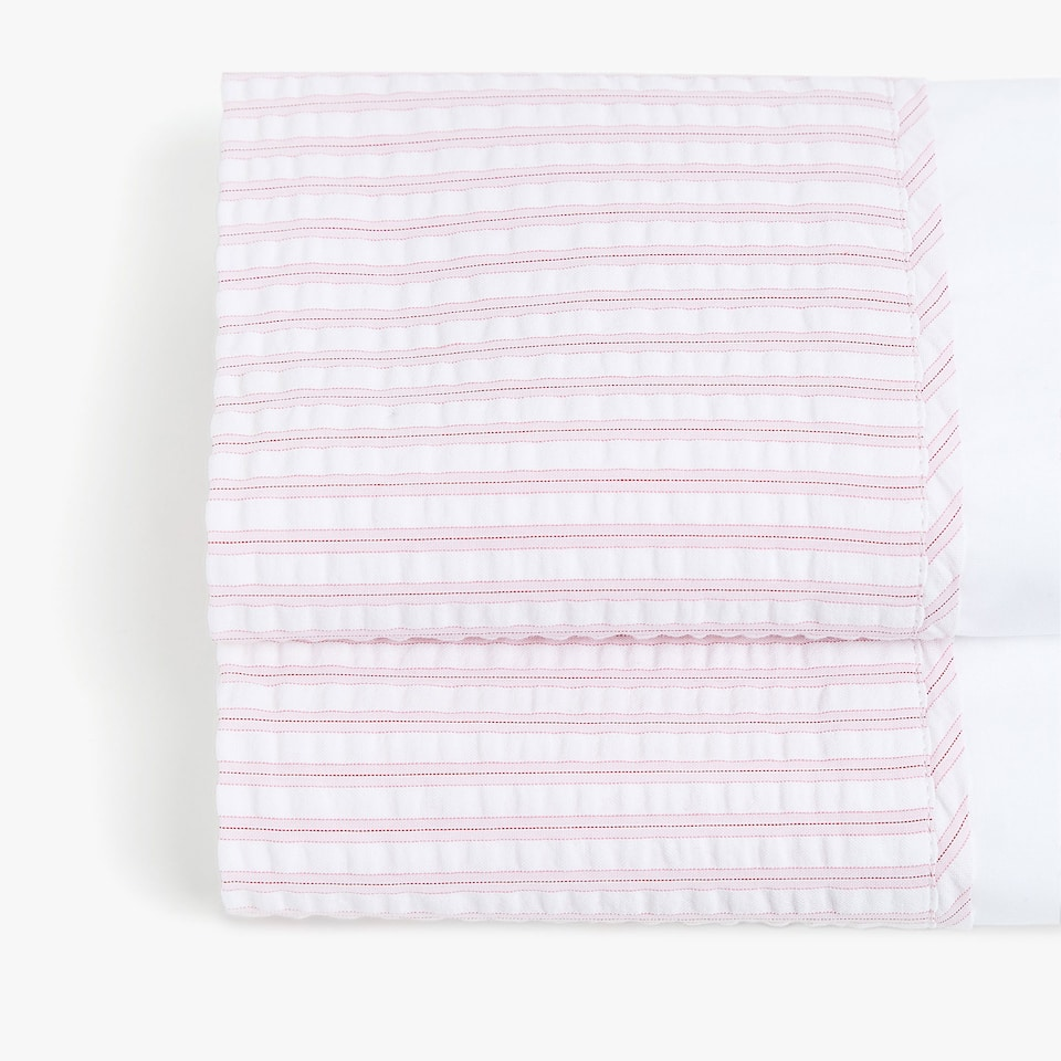 PINK SEERSUCKER TOP SHEET