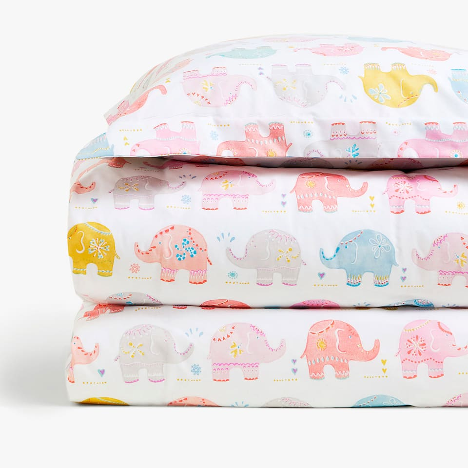 FUNDA NÒRDICA ESTAMPAT ELEFANTS