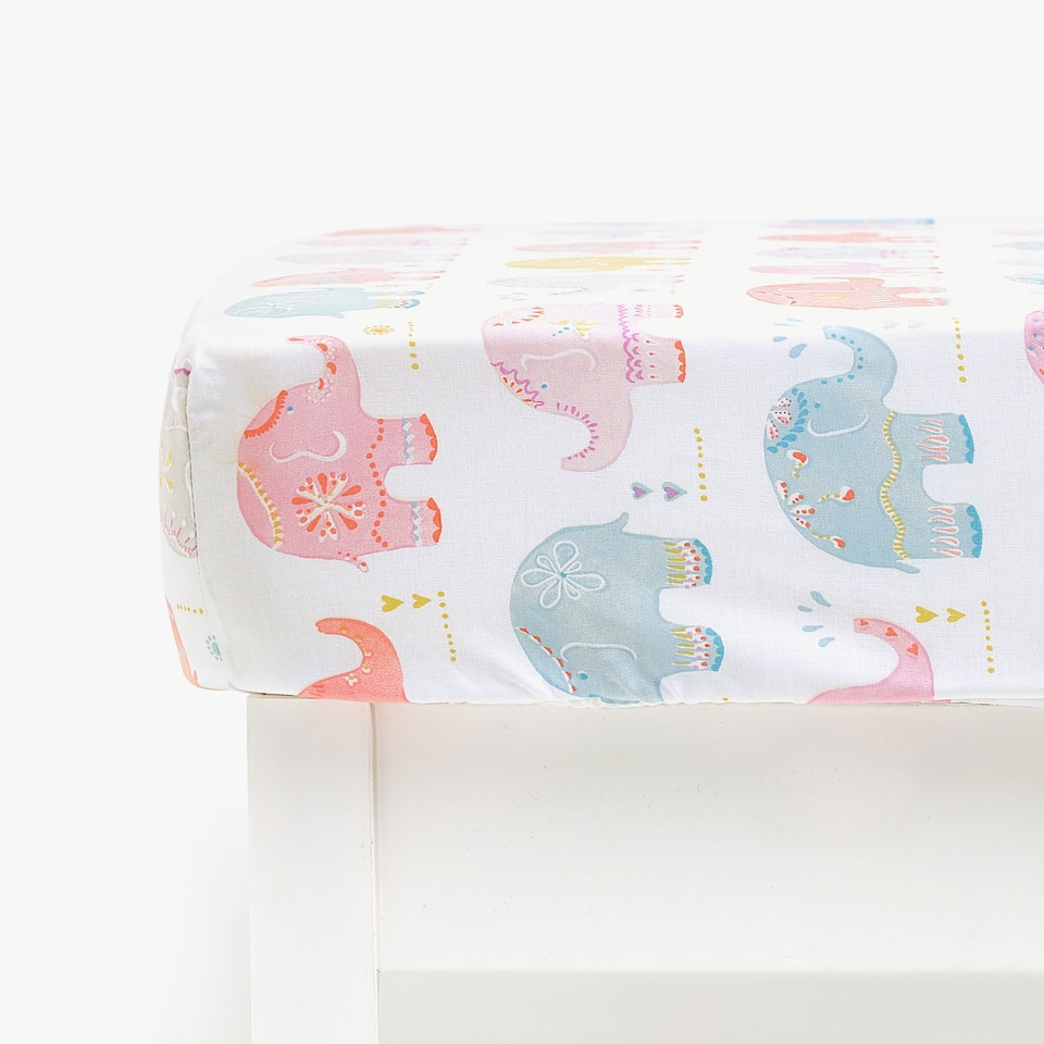 ELEPHANT PRINT FITTED SHEET
