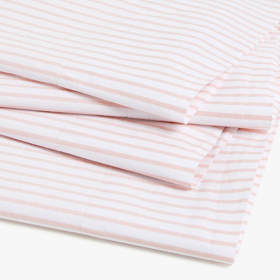 STRIPED PERCALE TOP SHEET