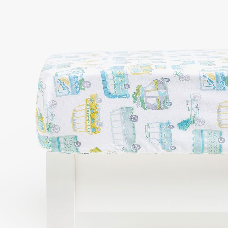 CAR PRINT FITTED SHEET