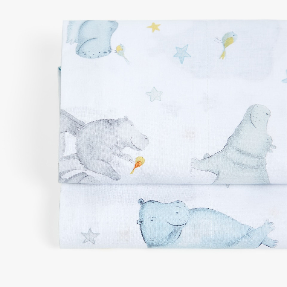 HIPPOPOTAMUS PRINT TOP SHEET