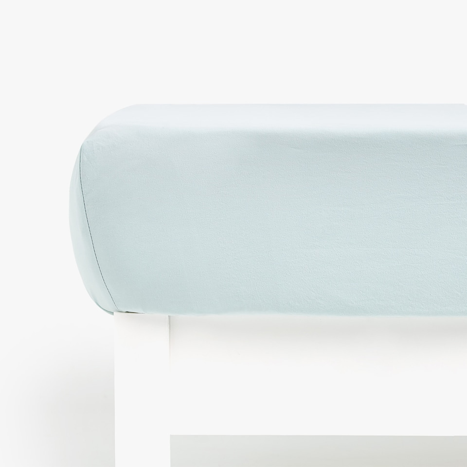 PLAIN COTTON PERCALE FITTED SHEET