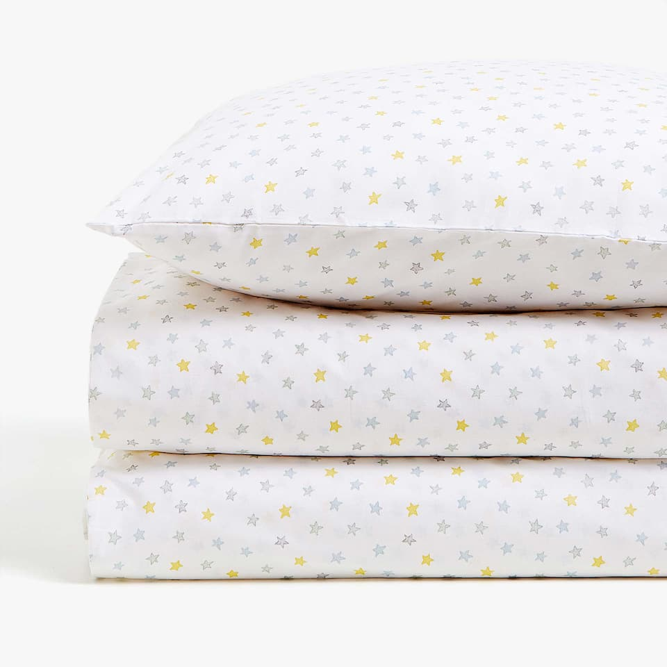 MULTICOLOURED STAR PRINT DUVET COVER
