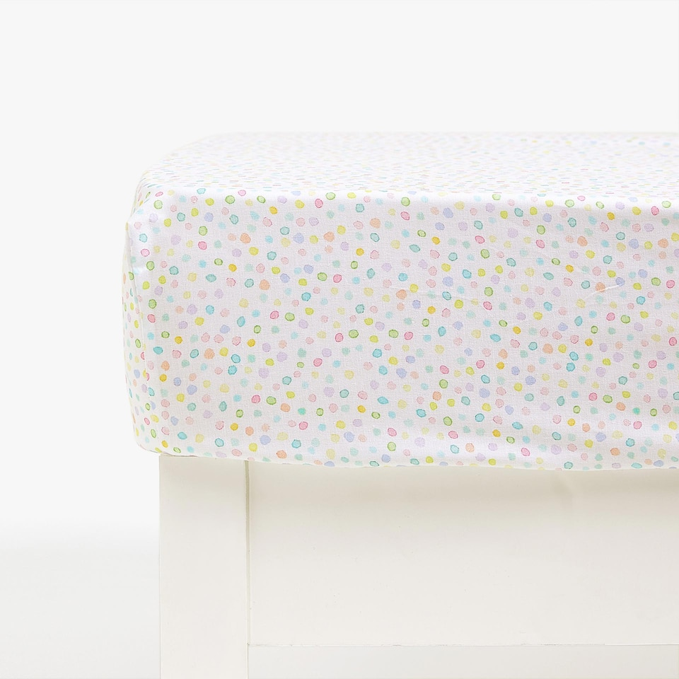 FLOWERS PRINT FITTED SHEET