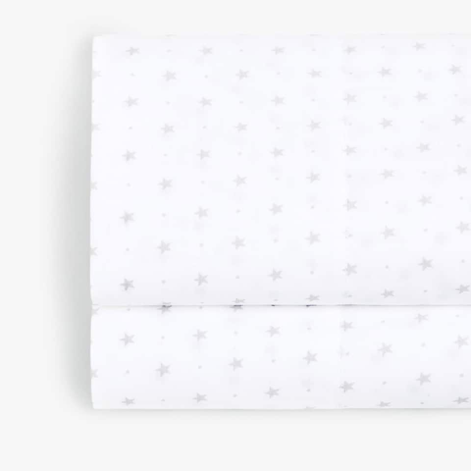STAR PRINT PERCALE FLAT SHEET