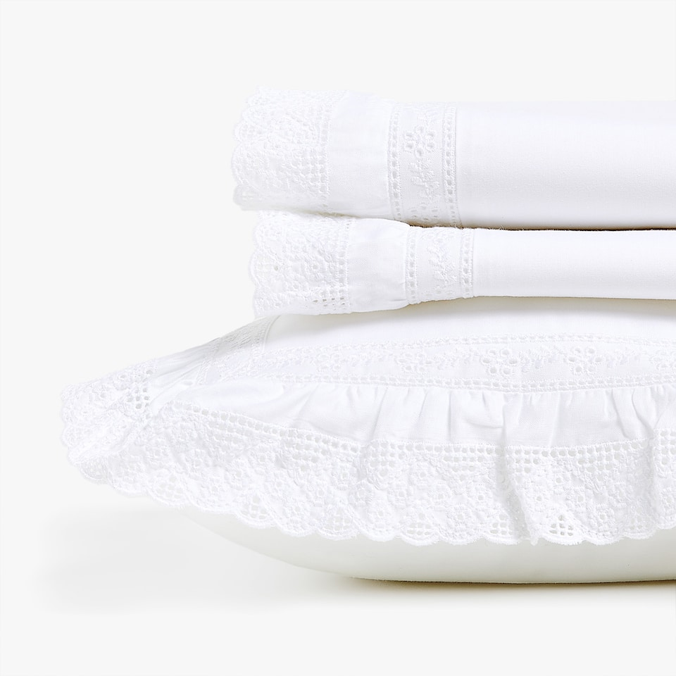 PERCALE SHEET SET WITH FRILL FOR MOSES BASKET AND MINI COT