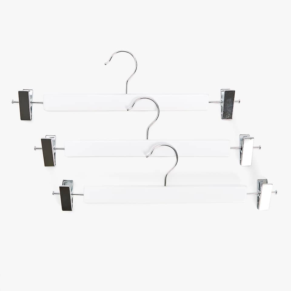 LACQUERED SKIRT HANGER (SET OF 3)