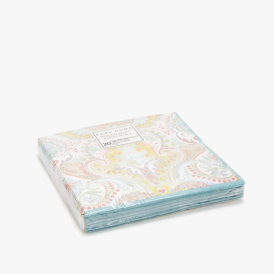 Paisley paper napkins (set of 20)