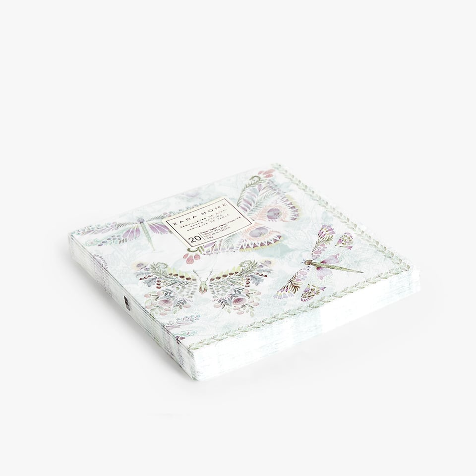 Butterfly paper napkins (set of 20)
