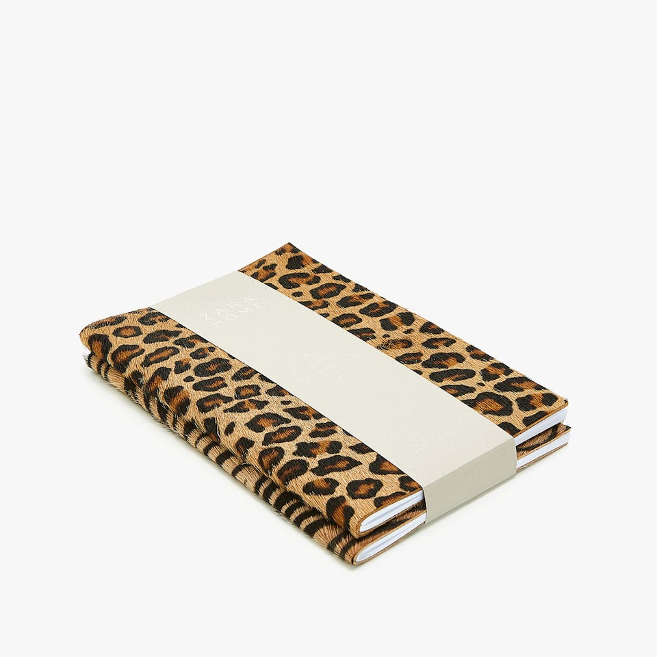 Libretas de piel animal print (set de 2)
