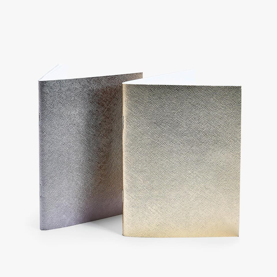 Gold and silver notebooks (set of 2)