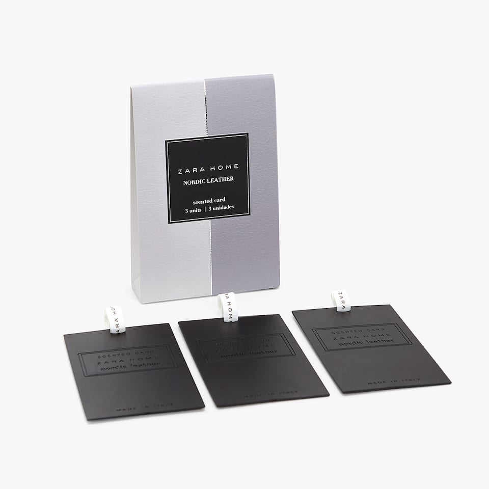 NORDIC LEATHER SCENTED CARDS