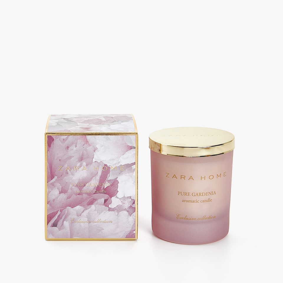 Pure gardenia aromatic candle