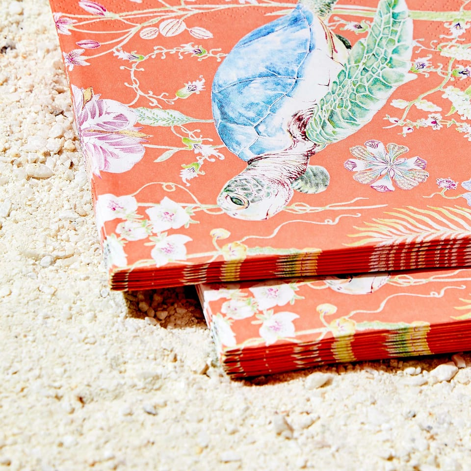 Turtle print napkins (set of 20)
