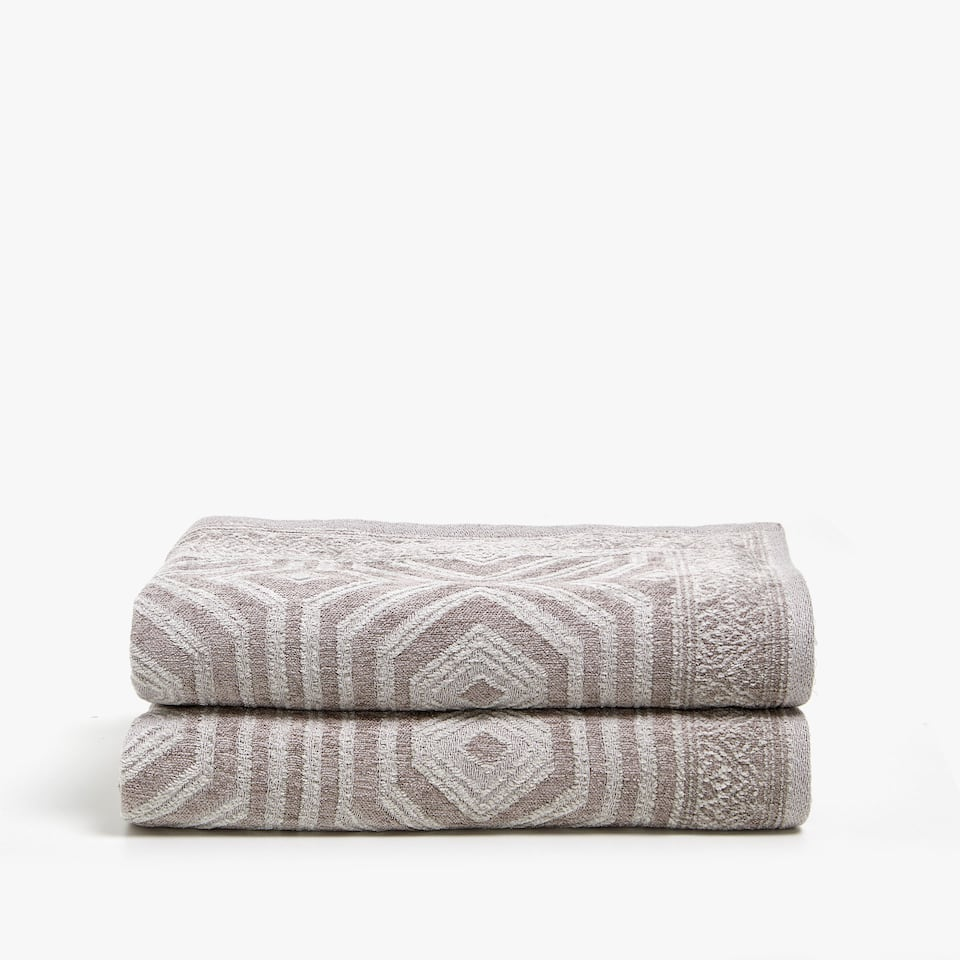 GEOMETRIC DESIGN CHENILLE BLANKET