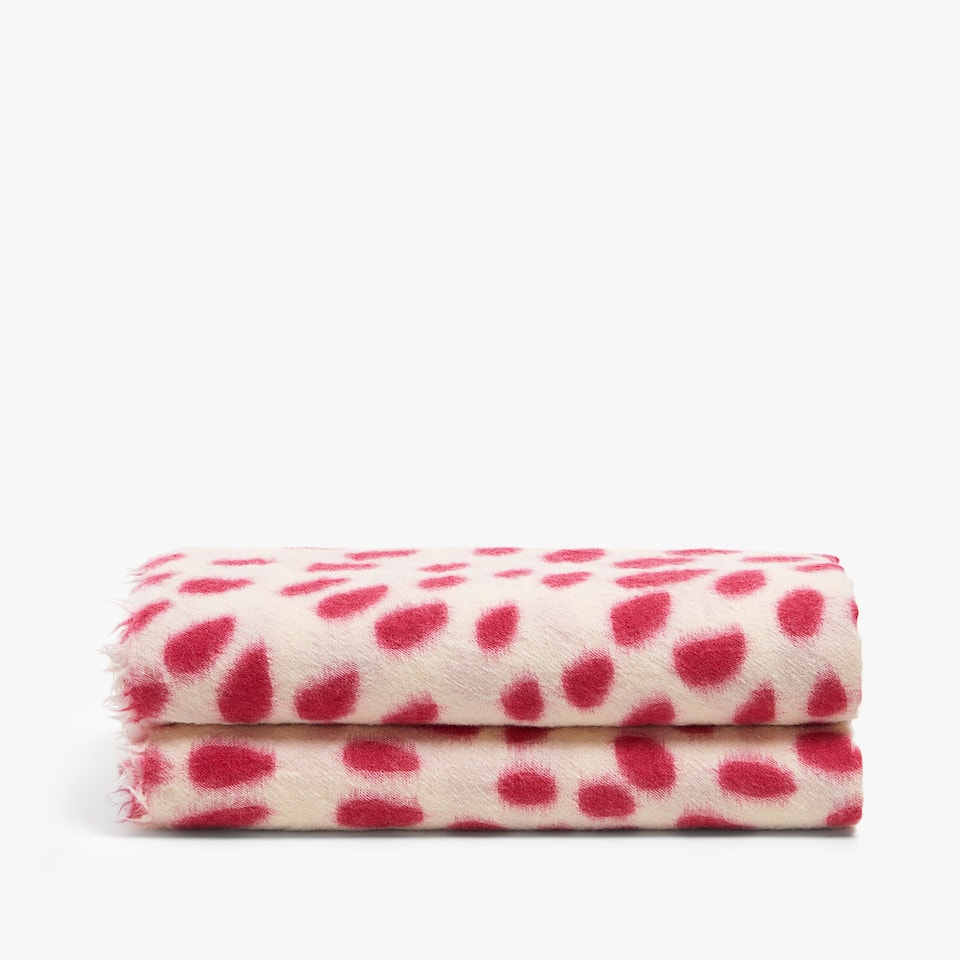 POLKA DOT WOOL BLANKET