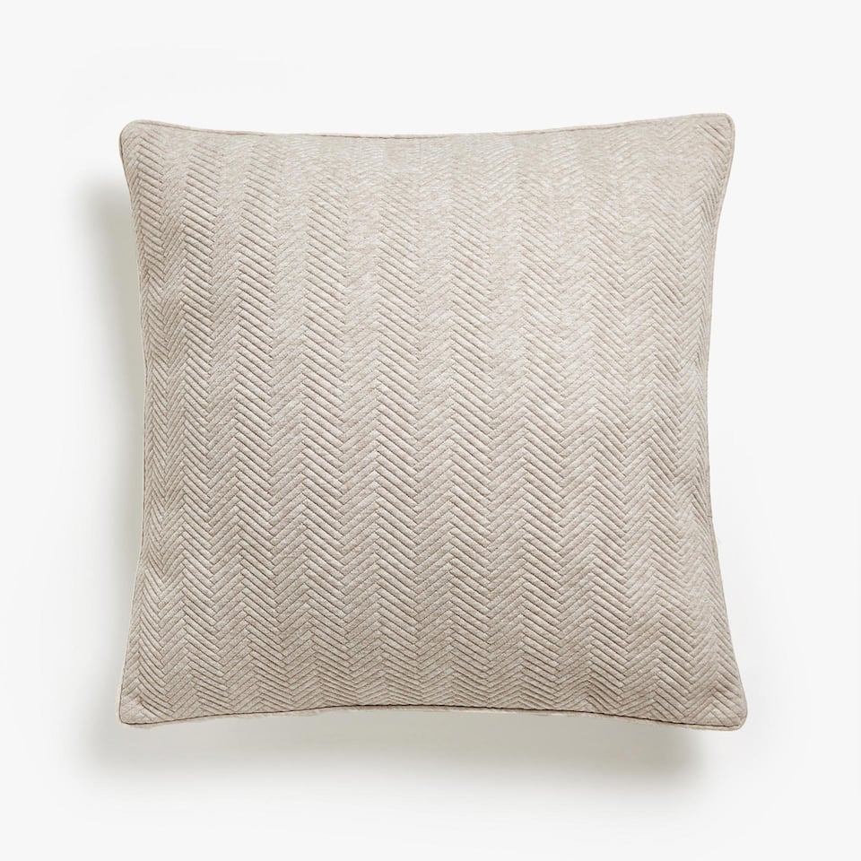 HERRINGBONE KNIT CUSHION COVER